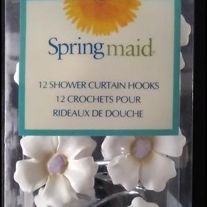 """Springmaid """"Paper White"""" Ceramic Shower Hooks"""
